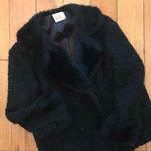Vintage Jacket with Faux Fur Trim size M